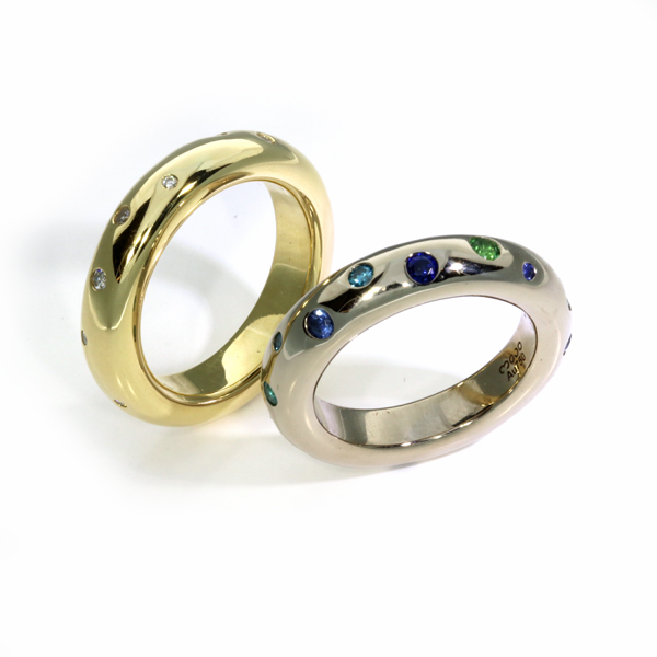 Ring Gelbgold Weissgold Altgold aus alt mach neu Brillanten Safire Turmaline (1008292)